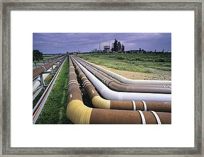 Cooling Pipes Framed Print by David Nunuk