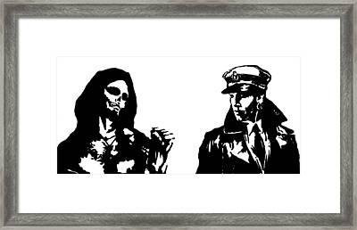 Corto And Thanatos Framed Print by Roberto Macedo Alves
