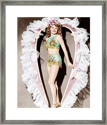 Cover Girl, Rita Hayworth, 1944 Framed Print by Everett