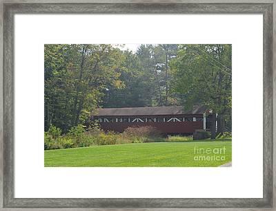 Covered Bridge Framed Print by Randy J Heath