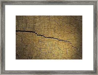 Crack Framed Print by Design Windmill