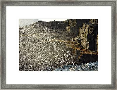 Crashing Waves Framed Print by Olivier Le Queinec