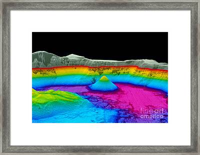 Crater Lake Framed Print by U.S. Geological Survey