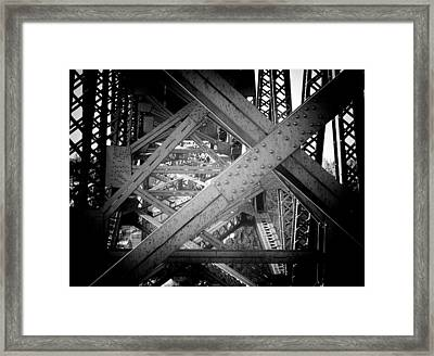 Crooked River Bridge  Framed Print by Franklin Jeffers