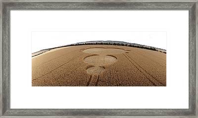 Crop Formation In Form Of Mandelbrot Set Framed Print by David Parker