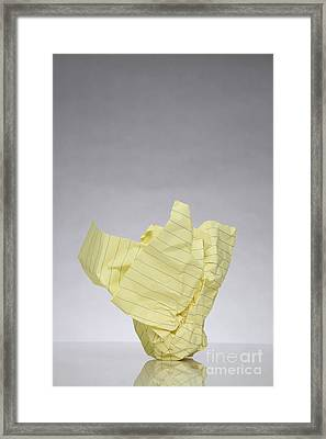 Crumpled Paper Framed Print by Photo Researchers, Inc.