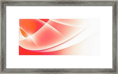 Curved Intersecting Lines Framed Print by Ralf Hiemisch