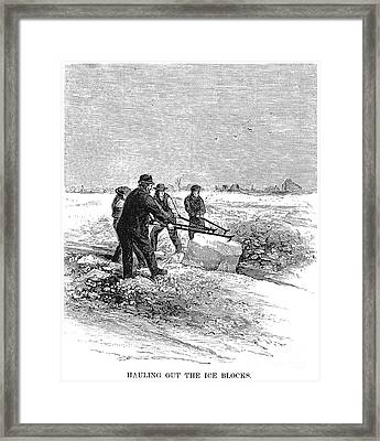 Cutting Ice, C1870 Framed Print by Granger