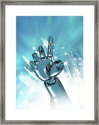 Cybernetic Arm, Artwork Framed Print by Victor Habbick Visions