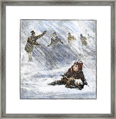 Dakota Blizzard, 1888 Framed Print