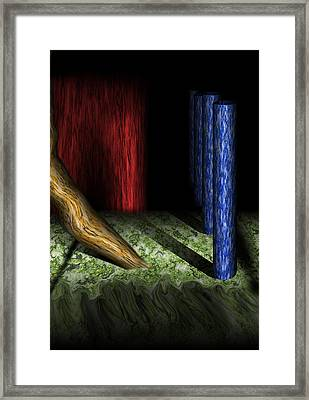 Dali's Columns Framed Print
