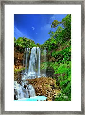 Dambri Waterfall Framed Print