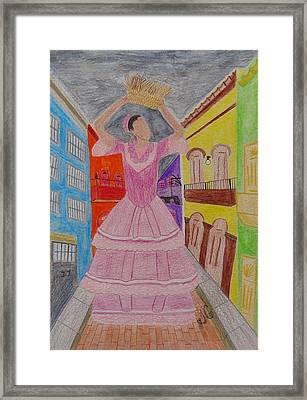 Dancer In Viejo San Juan Framed Print by Jessica Cruz