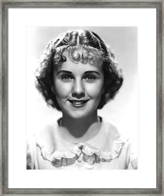 Deanna Durbin, 1936 Framed Print by Everett