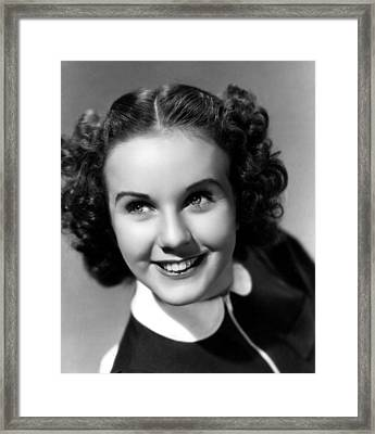 Deanna Durbin, 1937 Framed Print by Everett