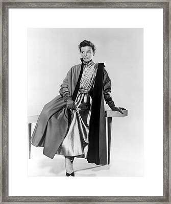 Desk Set, Katharine Hepburn, 1957 Framed Print