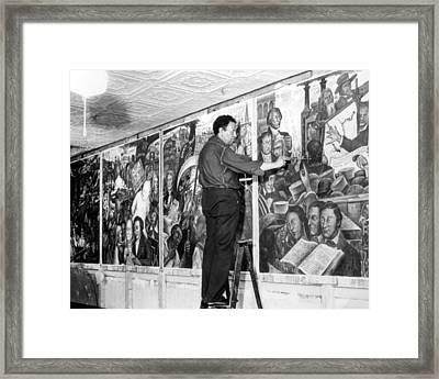 Diego Rivera, 1939 Framed Print by Everett