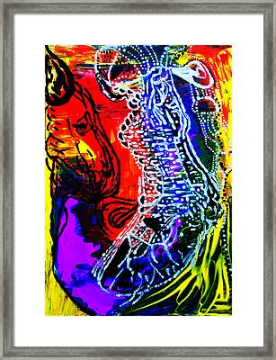 Framed Print featuring the painting Dinka Bride by Gloria Ssali