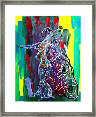 Dinka Lady - South Sudan Framed Print by Gloria Ssali