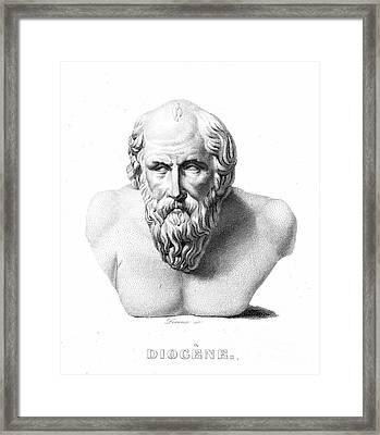 Diogenes (d. C320 B.c.) Framed Print by Granger