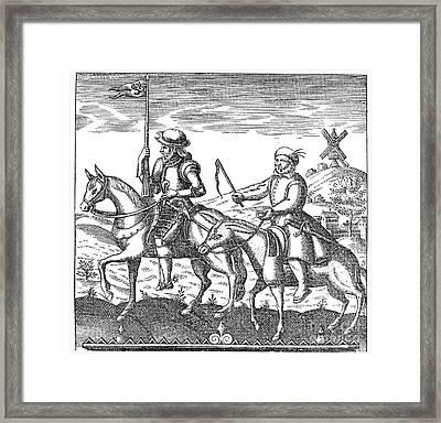 Don Quixote & Sancho Panza Framed Print by Granger