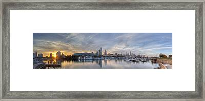 Downtown Chicago From Burnham Harbor Framed Print