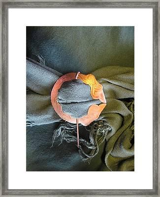 2 Dragon Penannular Brooch Framed Print by Ingrid Frances Stark