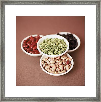 Dried Pulses Framed Print by Cristina Pedrazzini