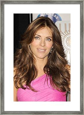 Elizabeth Hurley At A Public Appearance Framed Print by Everett