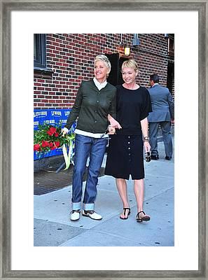 Ellen Degeneres, Portia De Rossi Framed Print by Everett