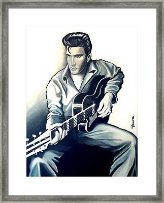 Elvis Framed Print by Jose Roldan Rendon