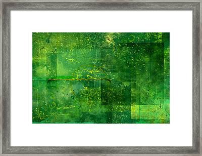 Emerald Heart Framed Print by Christopher Gaston