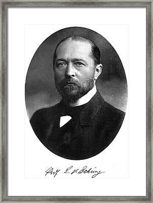Emil Von Behring, German Immunologist Framed Print