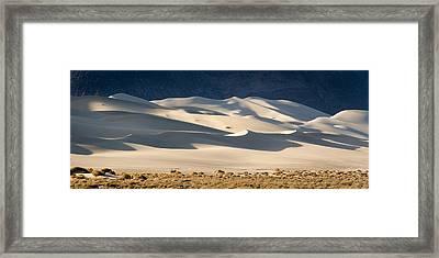 Eureka Dunes Panorama Framed Print by Jean Noren