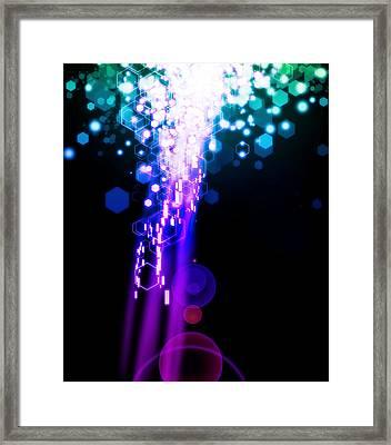 Explosion Of Lights Framed Print by Setsiri Silapasuwanchai