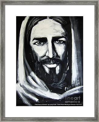 Face Of Christ Framed Print