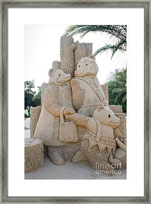 Fairytale Sand Sculpture  Framed Print