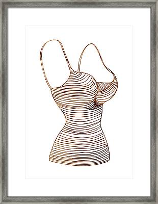 Fashion Sketch Framed Print by Frank Tschakert