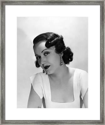 Fay Wray, Ca. 1930s Framed Print