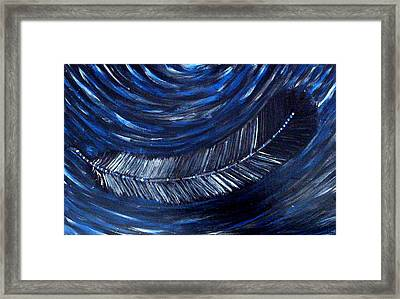 Framed Print featuring the painting Feather On Water by Monica Furlow