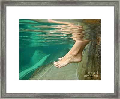 Feet Under The Water Framed Print by Mats Silvan