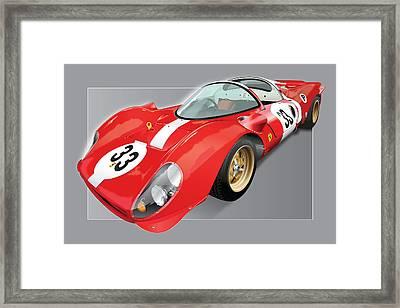 Ferrari 330 P4 Framed Print by Alain Jamar