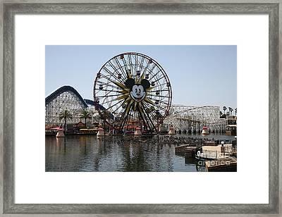 Ferris Wheel And Roller Coaster - Paradise Pier - Disney California Adventure - Anaheim California - Framed Print