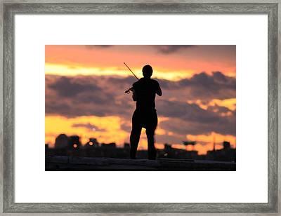 Fiddler On The Roof Framed Print by Nina Mirhabibi