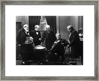 Film Still: Abraham Lincoln Framed Print by Granger