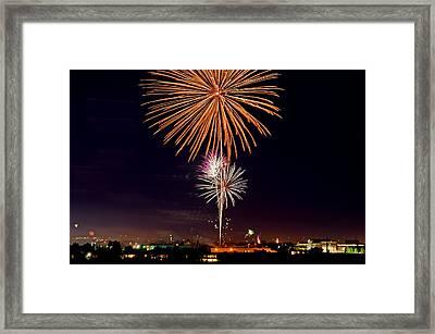 Fireworks Framed Print by Elijah Weber