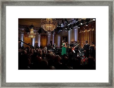 First Lady Michelle Obama Speaks Framed Print