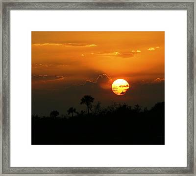 Framed Print featuring the photograph Florida Sunset by Jeanne Andrews