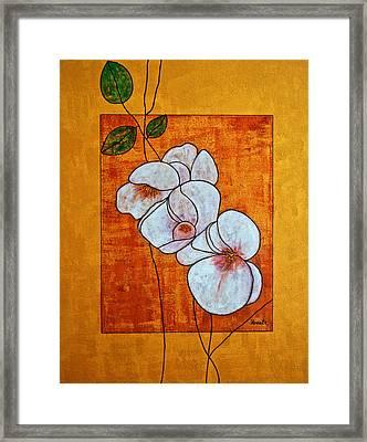 Flower-art Framed Print by Renate Dartois
