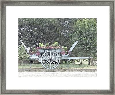 Flower Cart Normandy France Framed Print by Joseph Hendrix